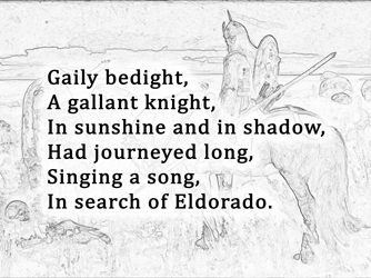 an analysis of eldorado by edgar allan poe » poets with initials a to e » poets with initials e » edgar allan poe » analysis of eldorado by edgar allan poe 'el dorado' is considered as a.