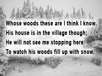 Image result for stopping by woods on a snowy evening