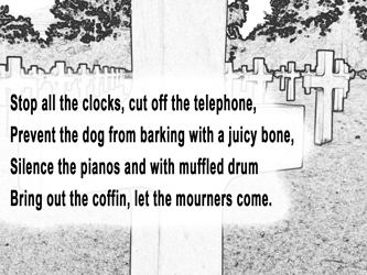 Funeral Blues Stanza 1