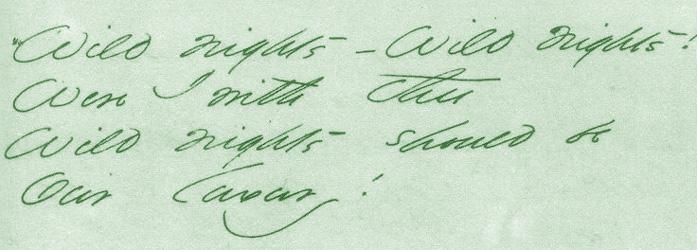 Wild Nights—Wild Nights, stanza one