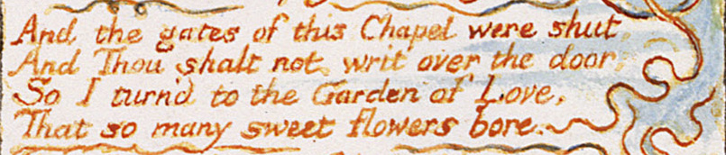 The Garden of Love by William Blake, stanza two